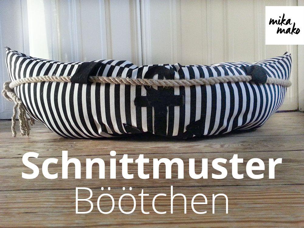 eBook - Böötchen - Schnittmuster-- Als Bett für die Mieze ...