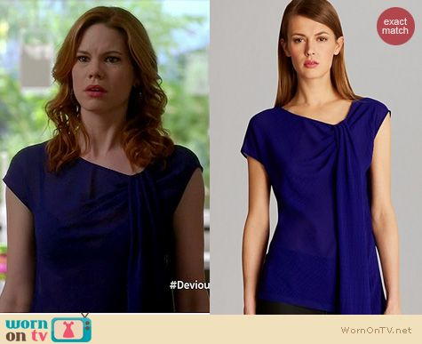 f8bf39450c5db3 Evelyn s navy off-shoulder top and windowpane skirt on Devious Maids ...