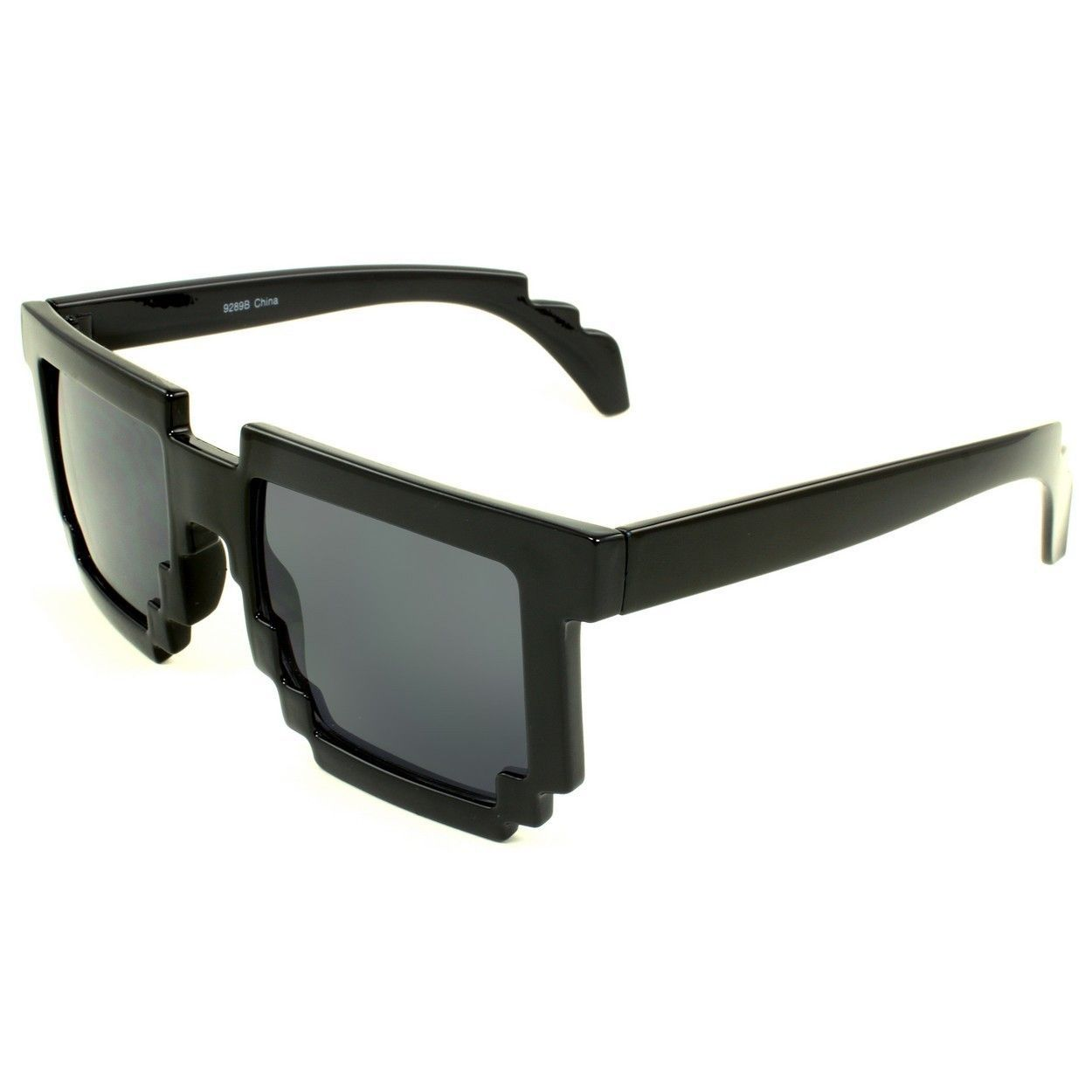 Add edgy, geek-chic style to your look with these fun zig-zag frame sunglasses that give a pixelated look. The sunglasses feature UV400 lens technology, absorbing over 99-percent of harmful UVA and UVB spectrums.