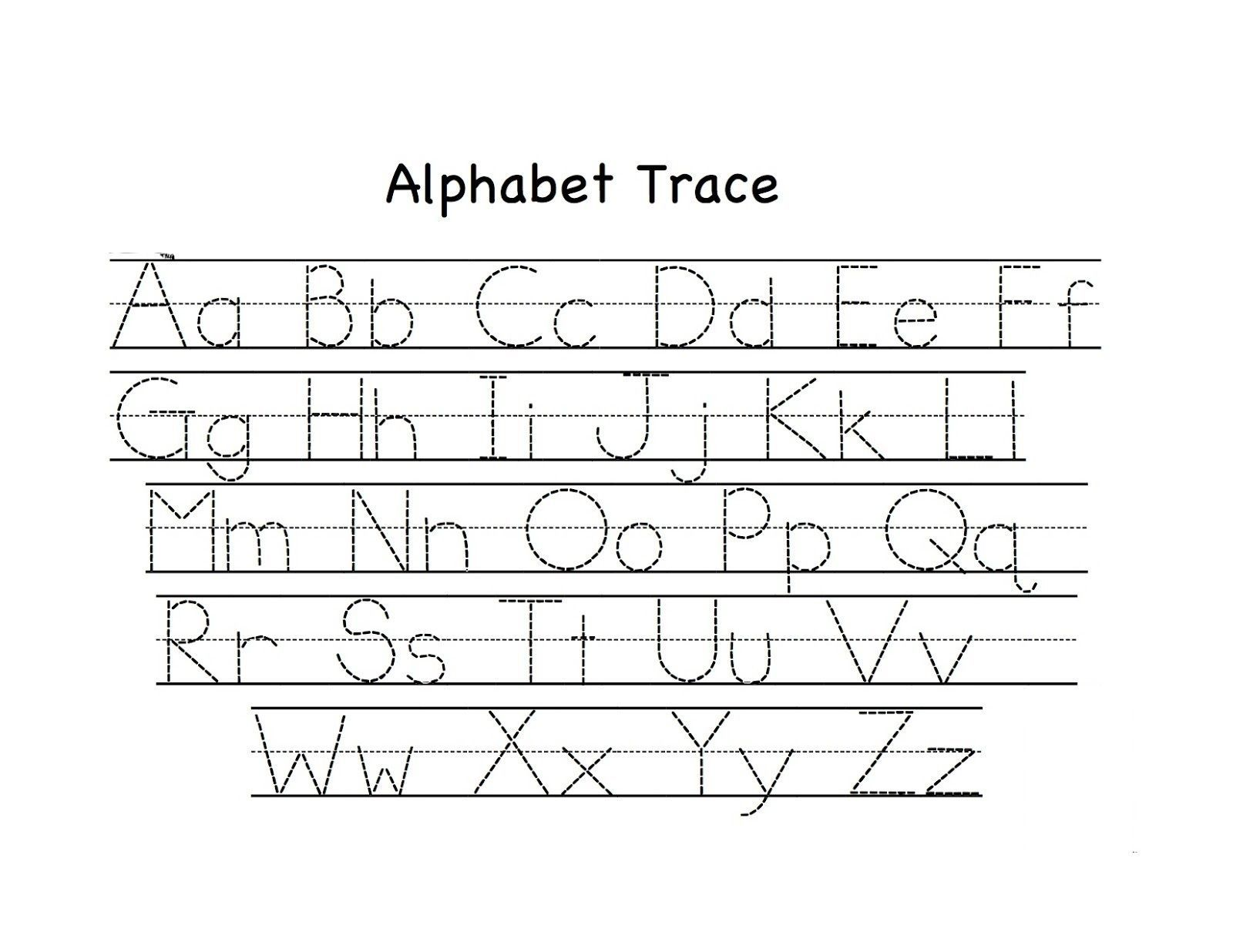 Tracing Letters Worksheets For Practice In With
