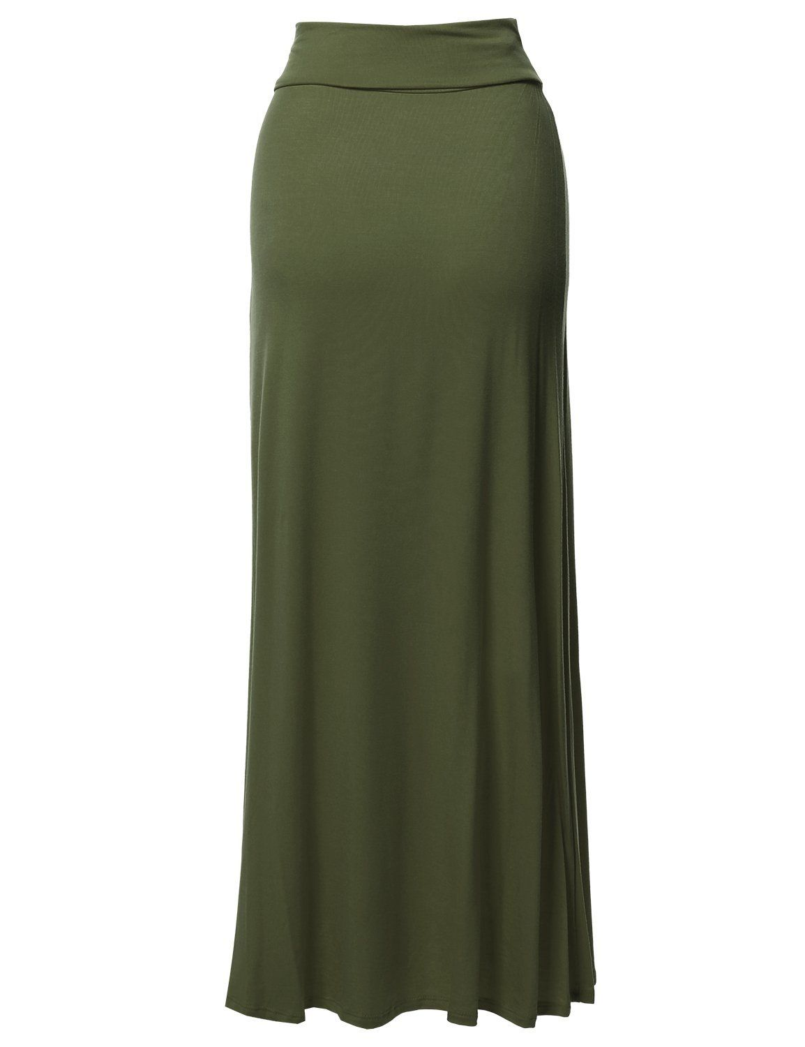 FashionOutfit Women/'s Stylish Fold Over Flare Long Maxi Skirt Made In USA