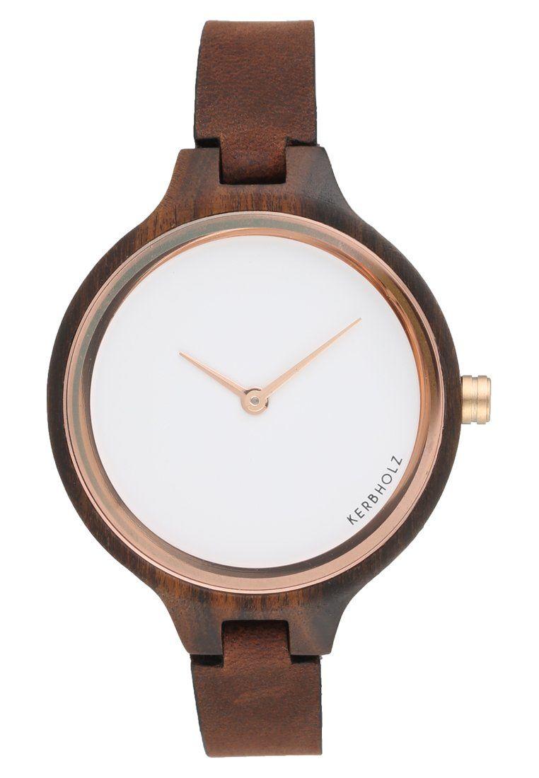 newest be8f9 e9307 HINZE - Uhr - ebony/tanned brown @ Zalando.de ...