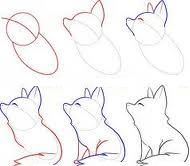 How To Draw A Chibi Wolf Chibi Drawings Animal Drawings Fox Drawing Tutorial
