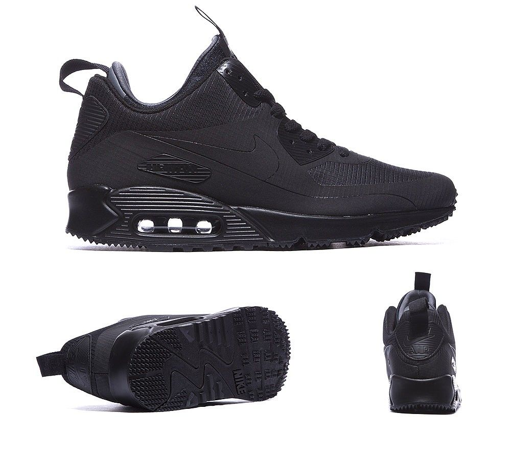 Nike Air Max 90 Mid Winter Trainers Black S92266 Air Max Winter dc551eab2