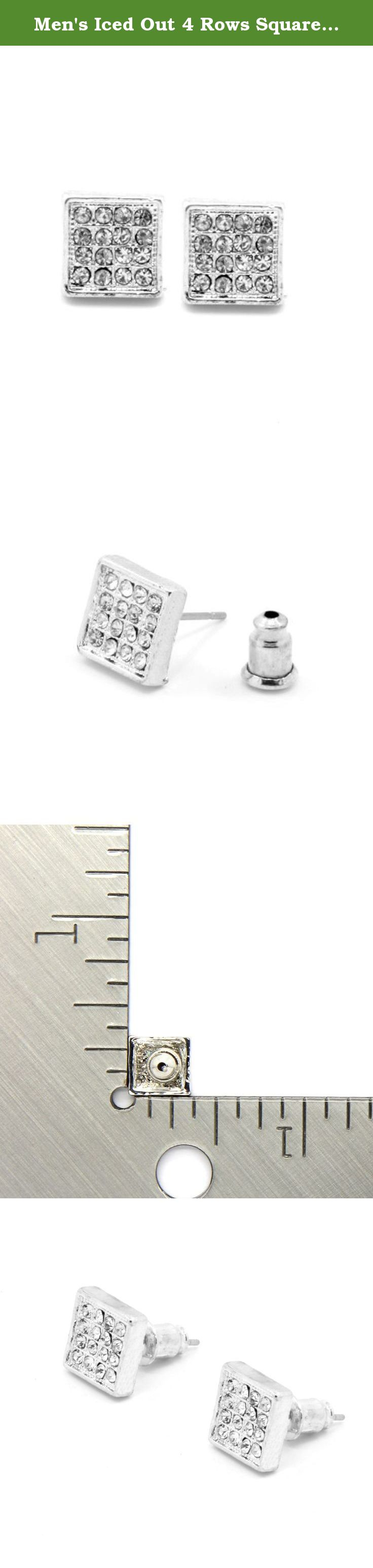 designs paul real mens by silver diamond stud earrings