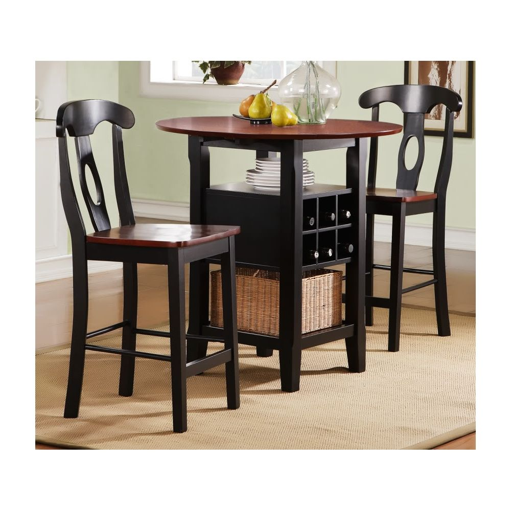 Homebelle 36 Wide Bistro Table With Chairs 3 Piece Set 2h334 Lamps Plus In 2020 Small Round Kitchen Table Small Kitchen Tables Top Kitchen Table