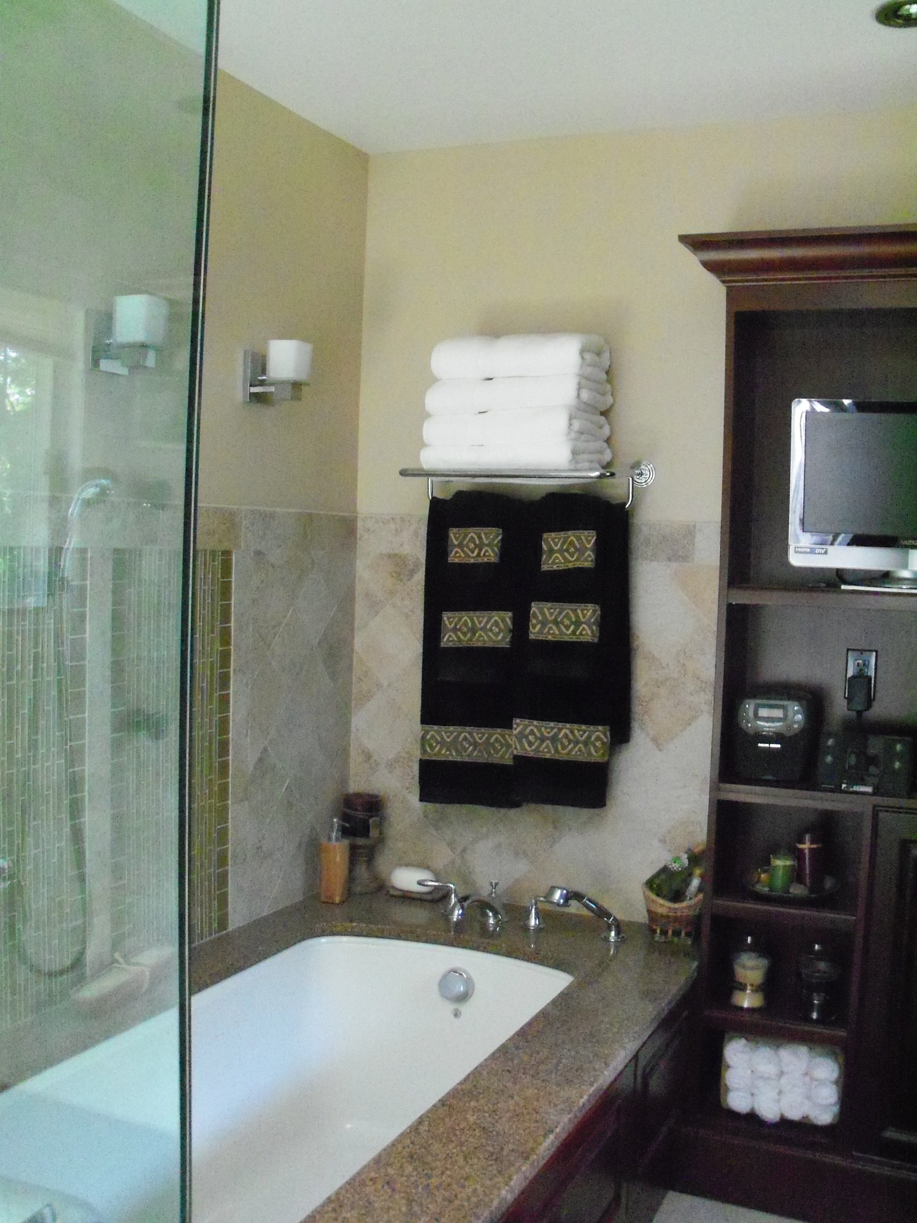 the master bath where we made room for every luxury in