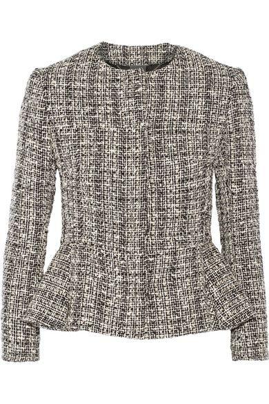 d58af0b37f7280 ALEXANDER MCQUEEN Cotton and wool-blend tweed peplum jacket.  #alexandermcqueen #cloth #jackets