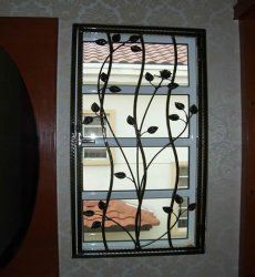 Wrought iron window grills decorative wrought iron grill modern blacksmith pinterest - Decorative window grills ...