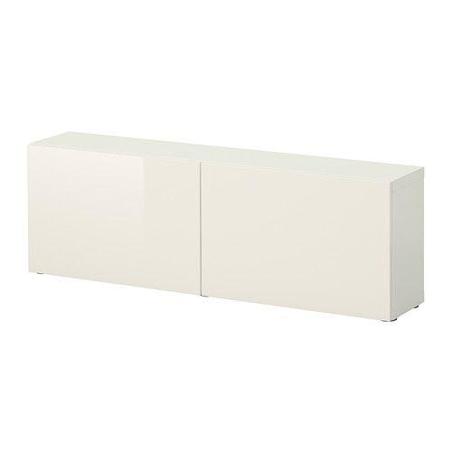 BESTÅ Regal mit Türen - weiß/Tofta Hochglanz/weiß - IKEA