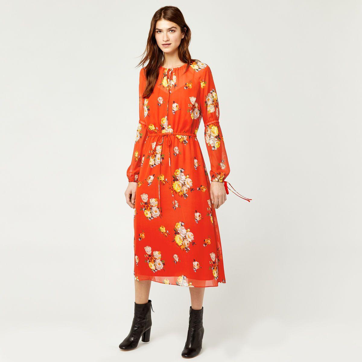 Womens Victoria Floral Chiffon Dress Warehouse 1xBR7Ukvx