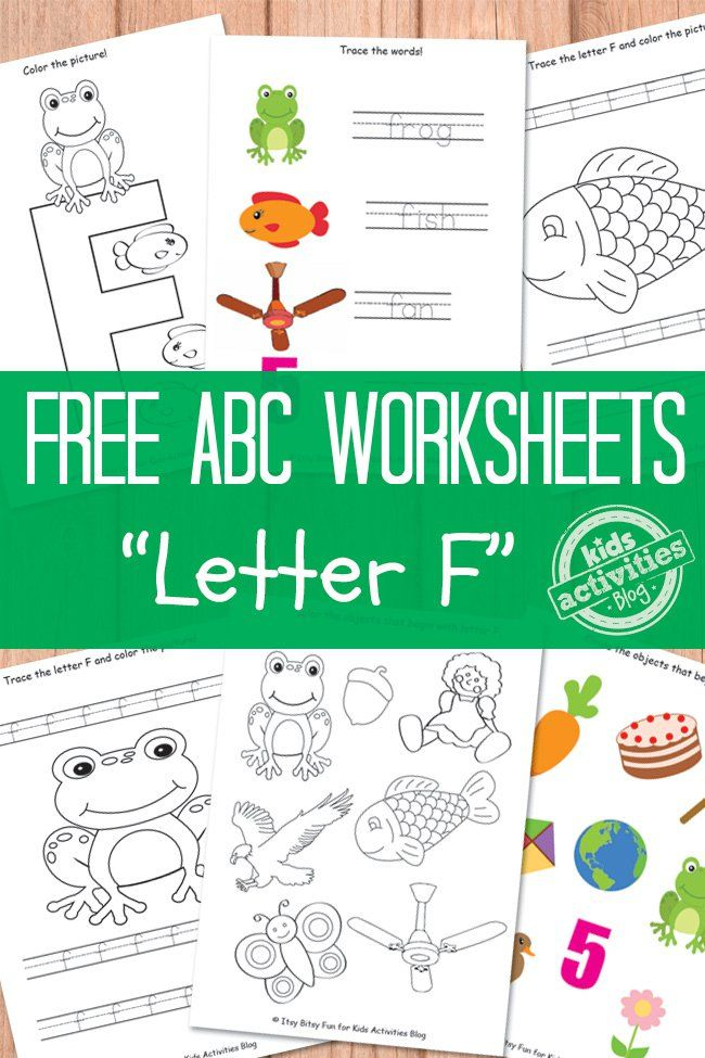 Letter F Worksheets Free Kids Printable  Worksheets Phonics And