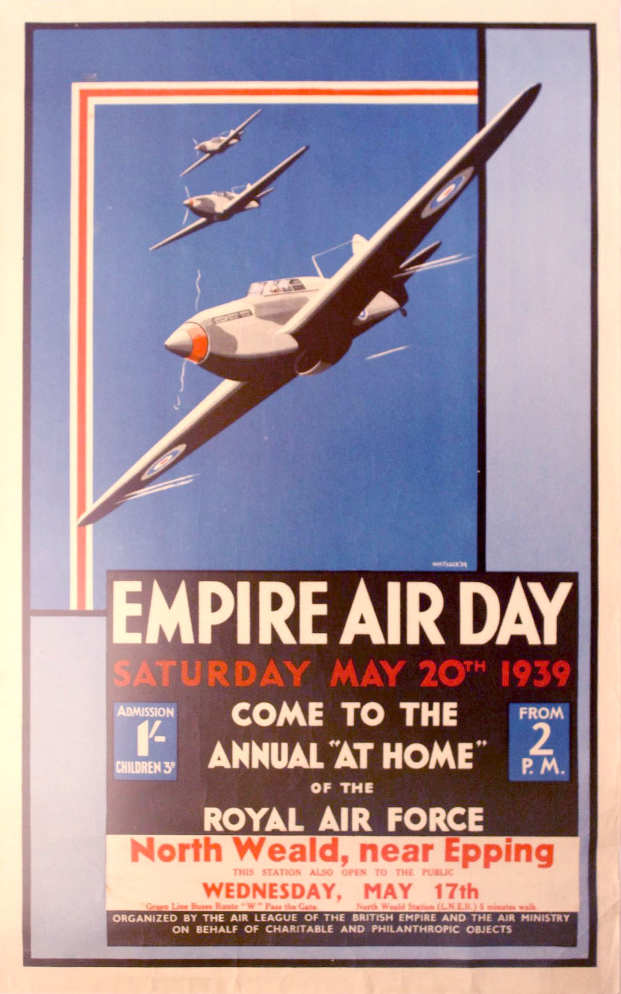 Wandposter Wald Whitlock Original Vintage Poster For The Last Royal Air Force