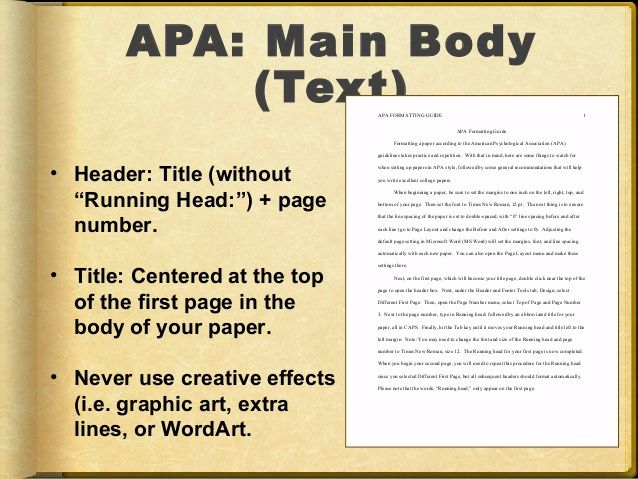 How To Write The Main Body Of An Apa Paper  Opinion Of