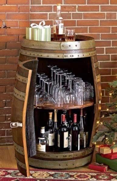 8e8de2b18e14c 12 Ideas para decorar con barricas de vino Más