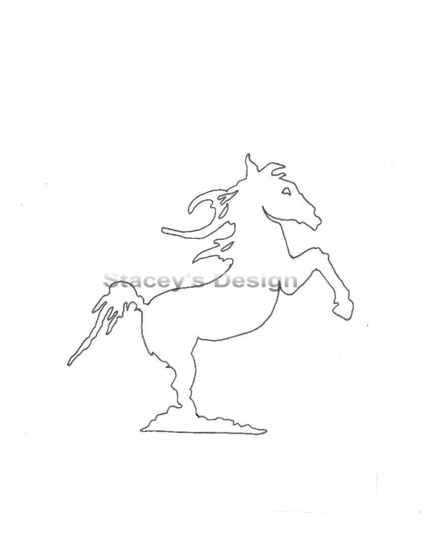 Horse arts and crafts - Stencil Rearing Horse Arts And Crafts Stencil Art