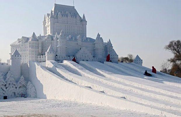 SPECTACULAR SNOW SCULPTURES