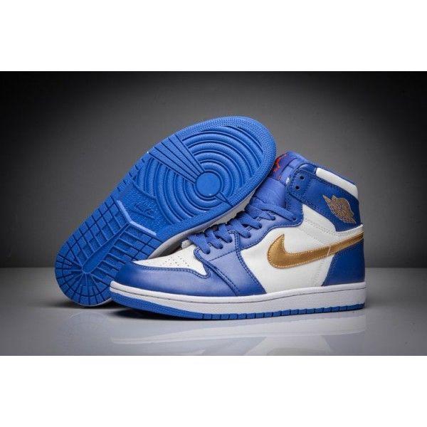 sports shoes aea6d 52e67 where to buy authentic air jordan 1 mens deep royal blue metallic gold coin  white retro gold medal free shipping