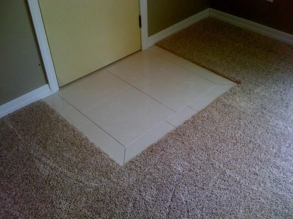 Tile In The Entry And Transition To Carpet Suggestions Ceramic