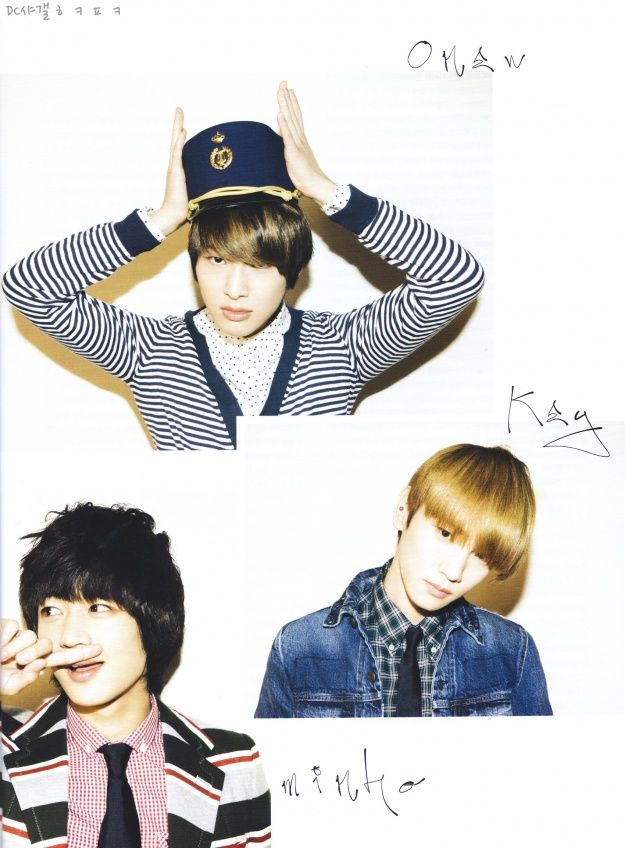Onew (DubuOnew), Key (diva!) & Minho (hot) from SHINee