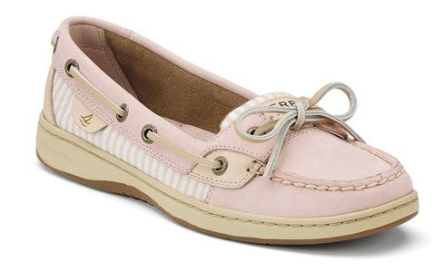 b8575e1bf8b Pale pink stripe angelfish Sperrys. I ❤ these shoes