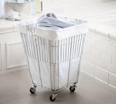 Chrome Hamper Laundry Hamper Laundry Room Organization Laundry
