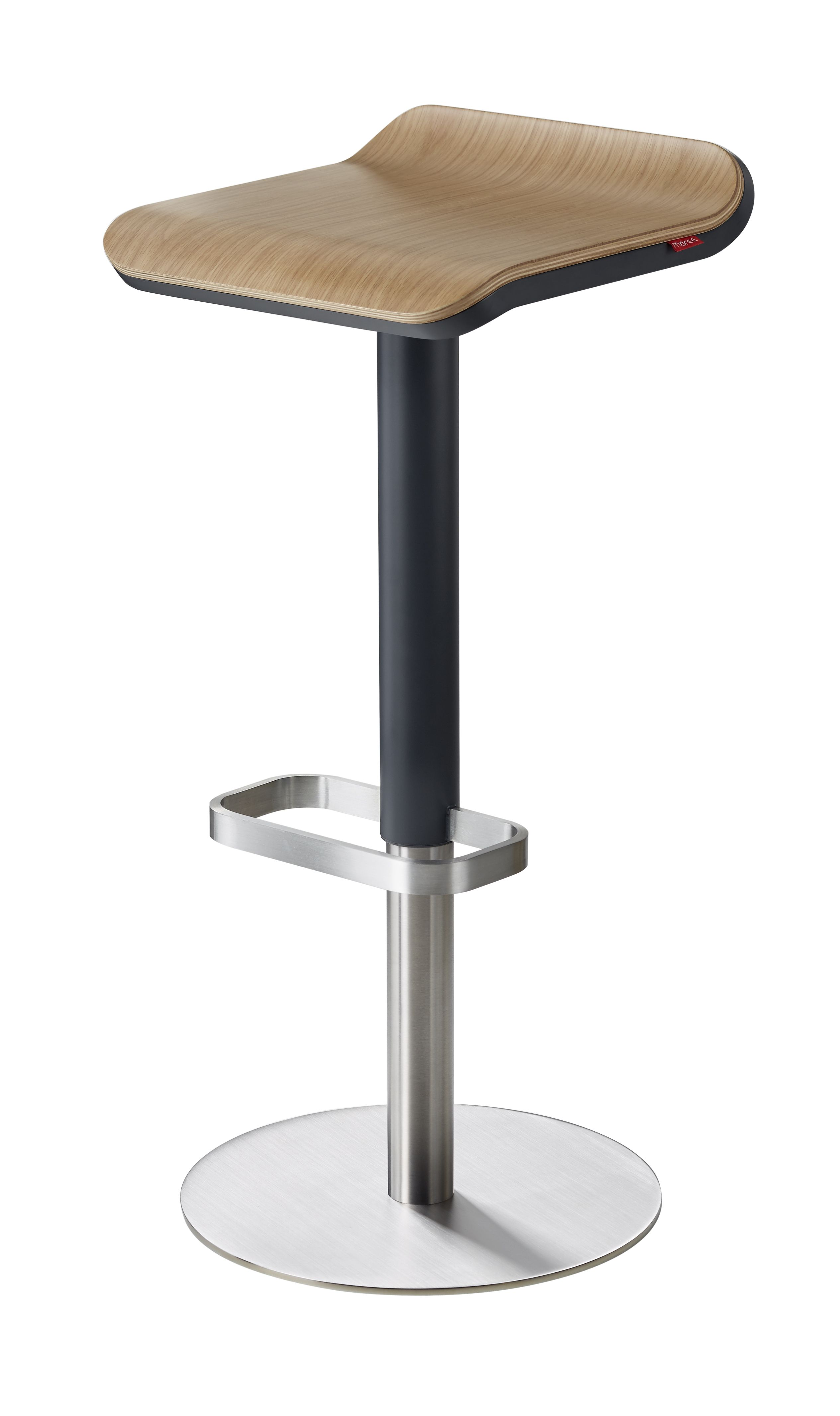 Barhocker Hohenverstellbar Dank Unsichtbarem Gaslifter Ed Von Moree Wooden Bar Stools Bar Stool Furniture Adjustable Bar Stools