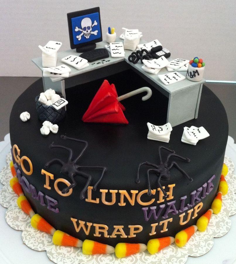 Halloween/Office birthday cake