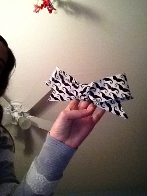 Duck tape cheer bow