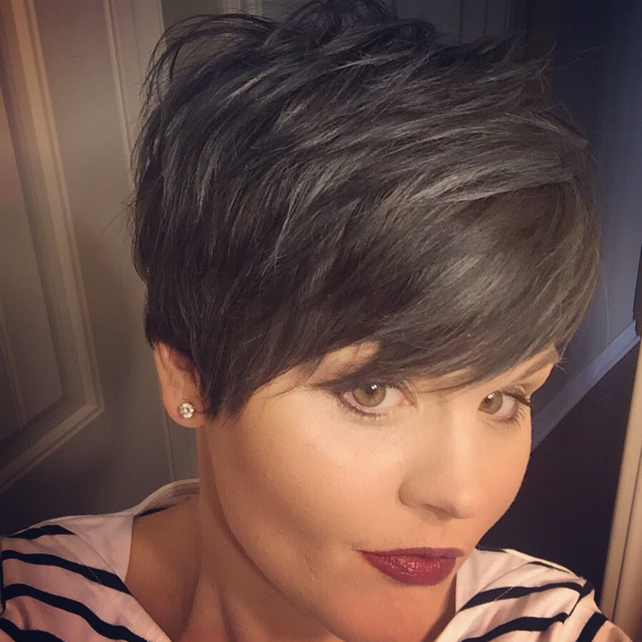 short grey pixie awesome reds