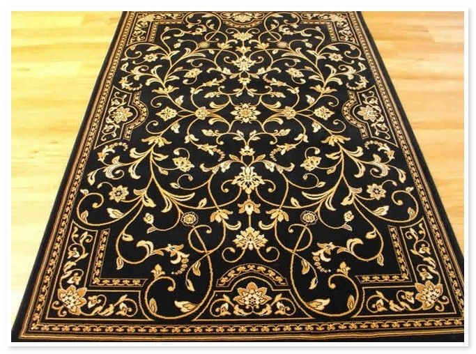 Lovely Black And Gold Bathroom Rugs 4