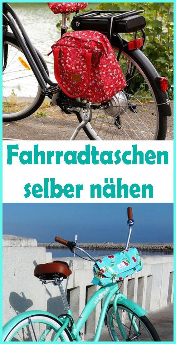 Nähanleitung für Fahrradtasche für Gepäckträger Fahrrad