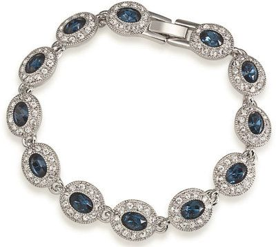 Brittany Sapphire Blue Crystal Bracelet