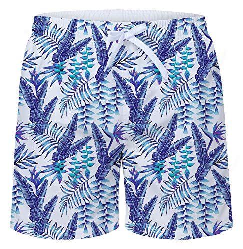 TUONROAD Badehose für Herren Bunte Blumen Lustige Bermuda Badeshorts 16-Inch Schnelltrocknend Kurz Hawaii Strand Shorts
