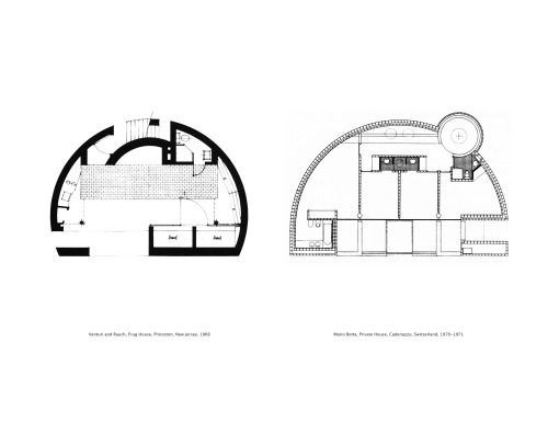 plan comparison  venturi and rauch  frug house  princeton