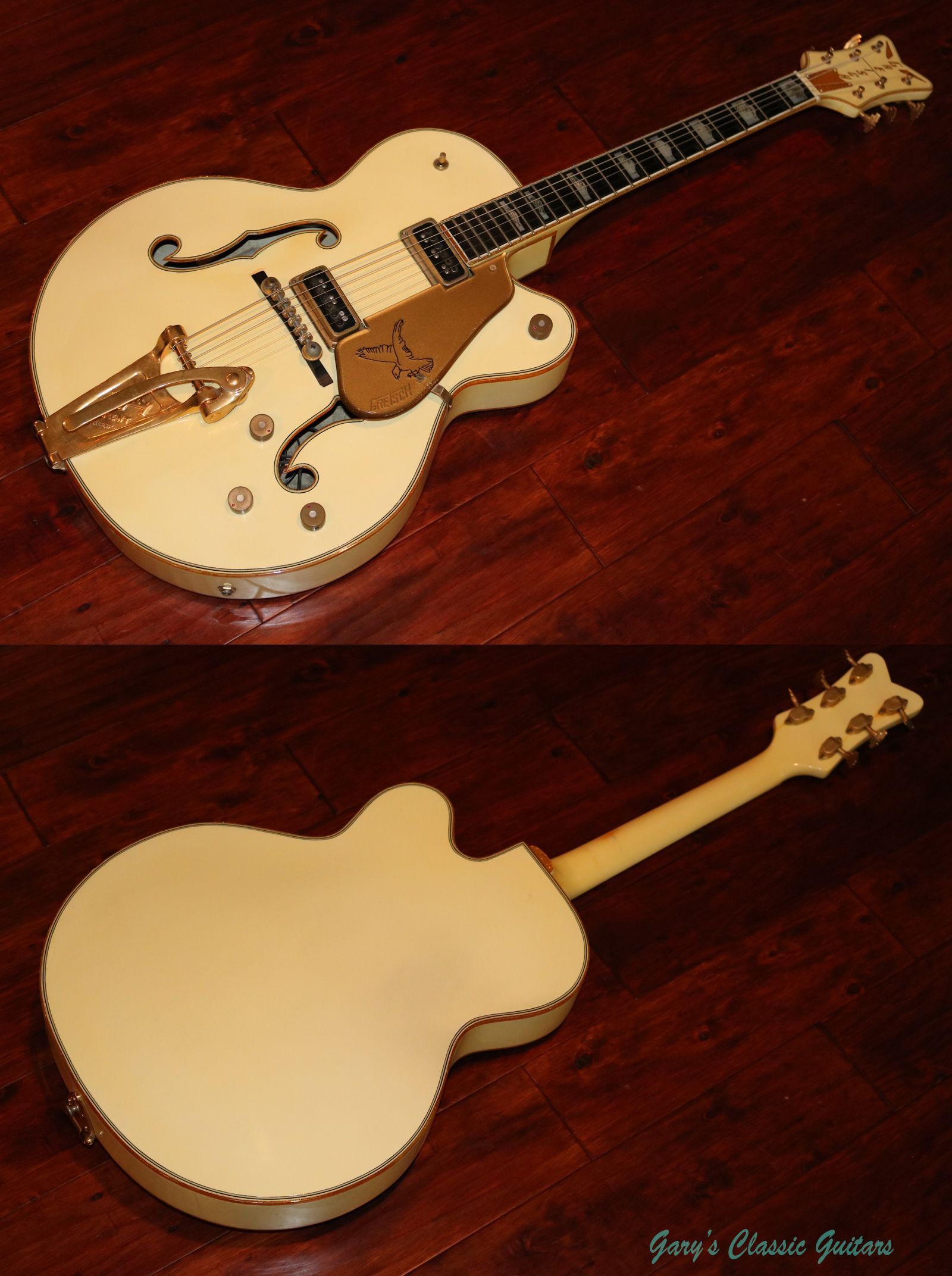 Super Rare Single Cutaway 1956 Gretsch White Falcon Garysguitars