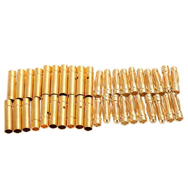 20 paia/lotto Motore Brushless di Alta Qualità Spina A Banana 3.0mm 3mm Placcati Oro Pallottola Connettore Per ESC Batteria
