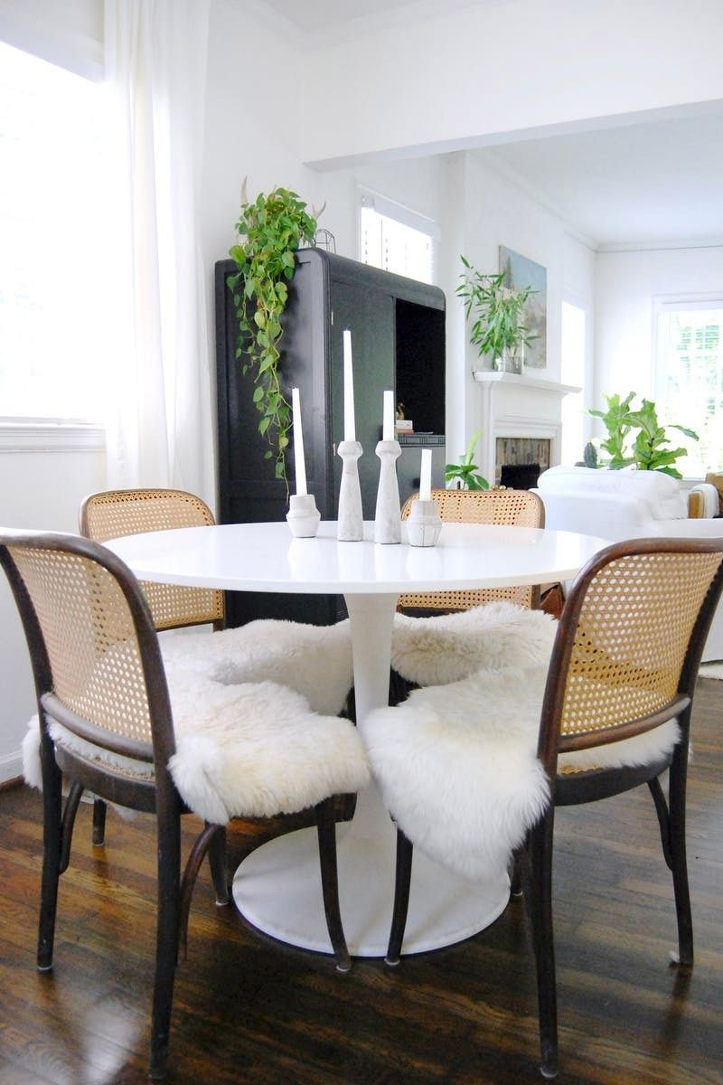 Introducing A Luxe Feel To Your Space Is Easy Do With Faux Fur Throws In The Dining Room Mixing Texture Same Color Palette Modern Way Add