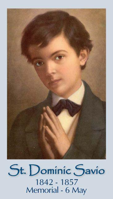 St Dominic Savio | www.saintnook.com/saints/dominicsavio | Free Catholic Holy Cards - Catholic Prayer Cards - St Therese of Lisieux - St. Joseph - Our Lady of Guadalupe - Sacred Heart of Jesus - John Paul the Great - Support Missionary work