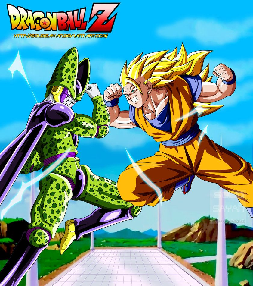 Goku ssj3 vs perfect cell by solidsayan on deviantart dragonball pinterest if vs and - Super cell dbz ...