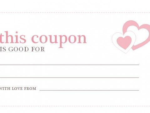 Romantic Love Coupon Template Printable Valentines Day Coupons - microsoft coupon template