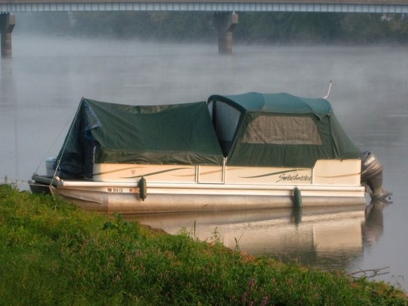 turns the pontoon into a tent- great for visiting other lakes & turns the pontoon into a tent- great for visiting other lakes ...