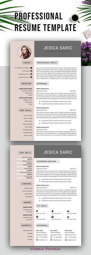 7 Style Resume templateProfessional resume templateResume template