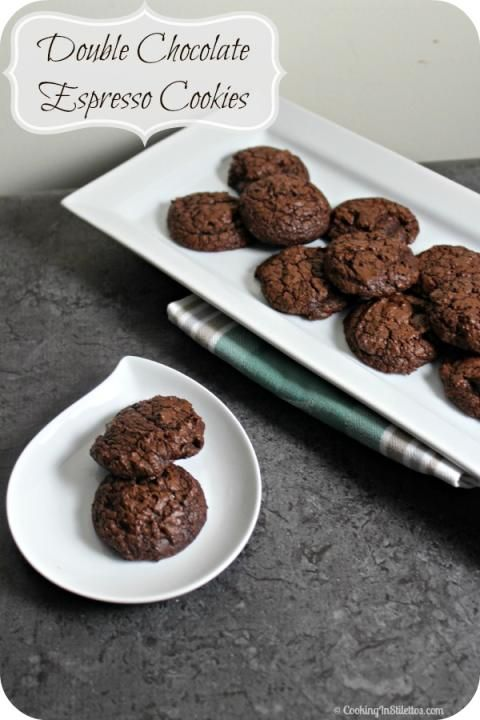 Double Chocolate Espresso Cookies   Cooking In Stilettos