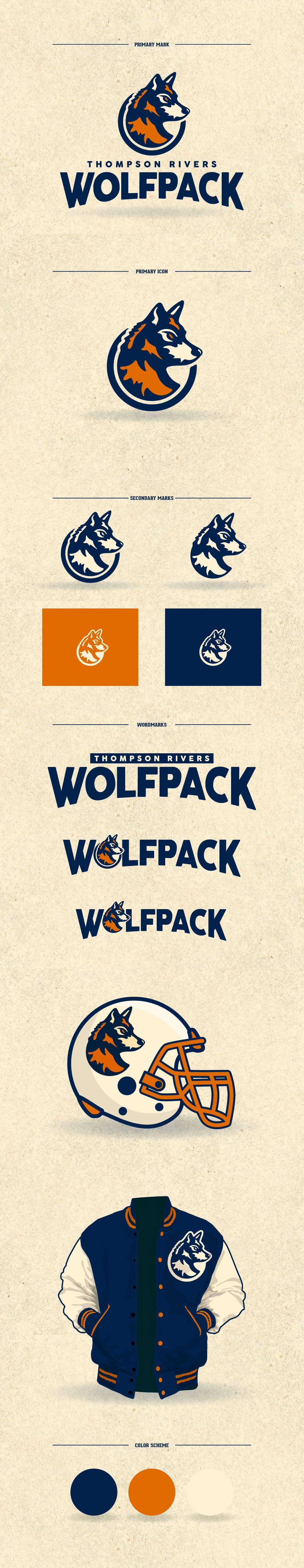 Thompson Rivers Wolfpack on Behance Shirt logo design
