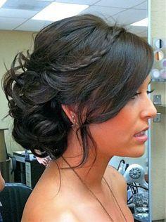 1000 Ideas About Medium Length Updo On Pinterest Side Bun Updo Hair Styles Hair Inspiration Hair Beauty