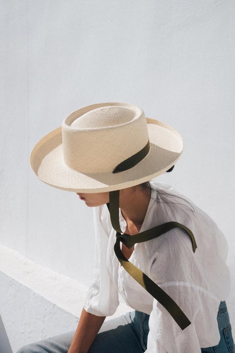 Tio Y Tia Hats Straw Hat Black Straw Hat