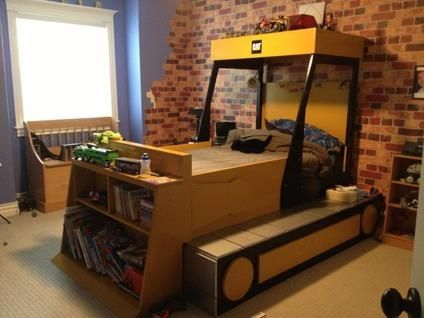 finest selection d3ac4 4ecff backhoe bed | 475 OBO Children's Twin Tractor Bed for sale ...