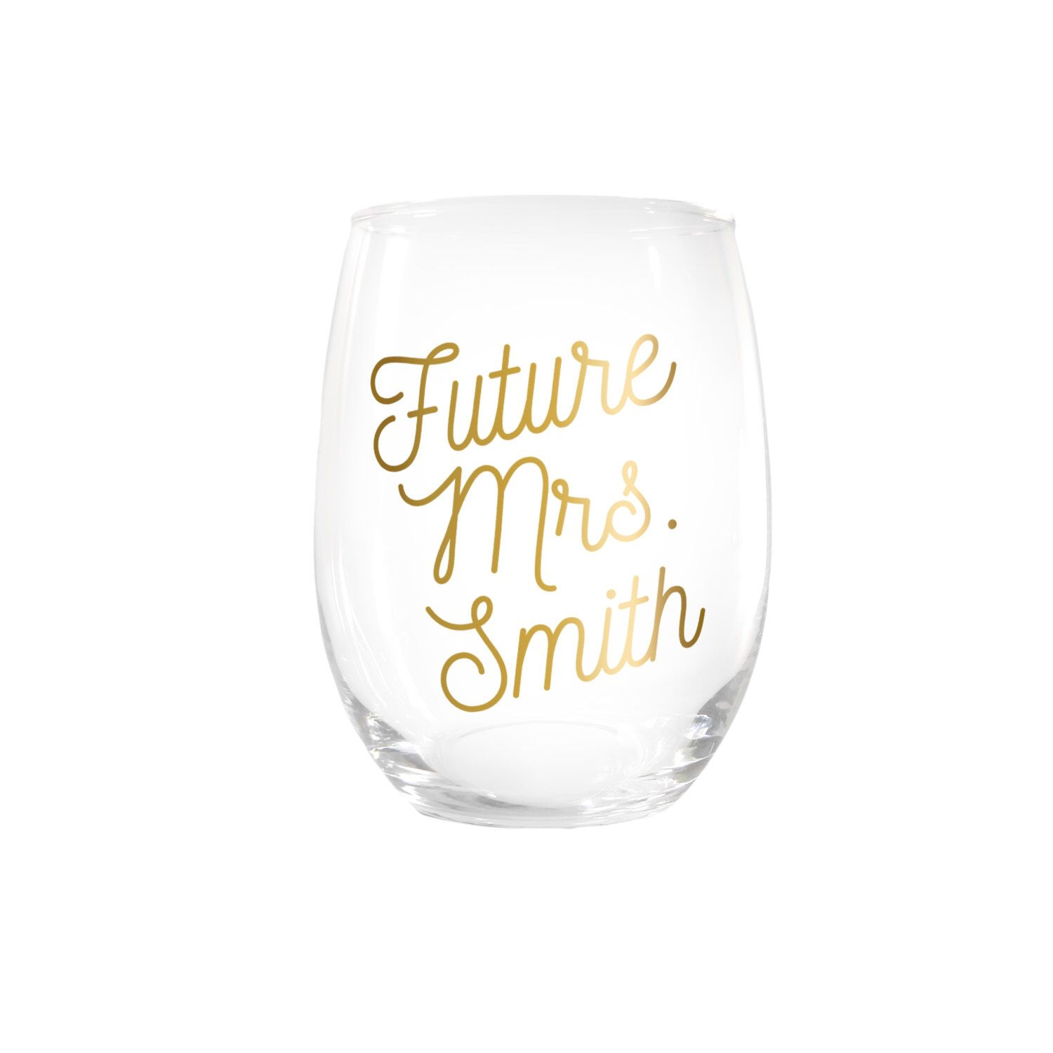 For day of bridal shower. Customized wine glass | Bridal shower ...