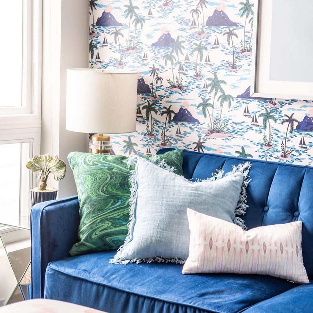 Peel And Stick Wallpaper On Instagram We Re Loving This Cozy Corner From Kfogara He Built Out The Color Palette From The C Tropical Decor Cozy Corner Decor